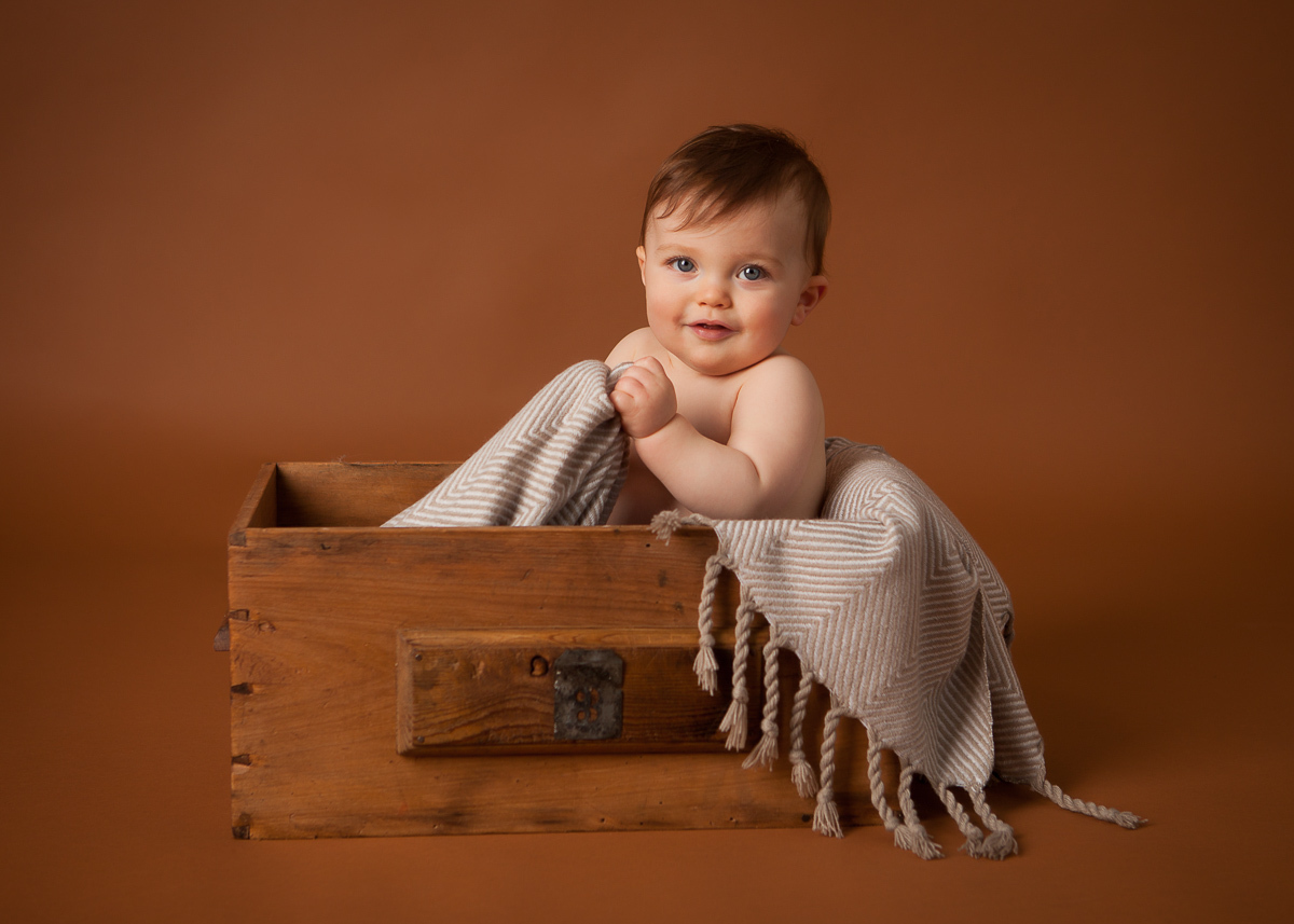 Baby in box studio photo north shore jpg